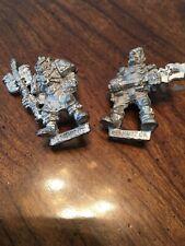 Warhammer 40k - Rogue Trader Metal Adeptus Mechanicus Tech Priest & Servitor OOP