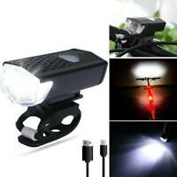 3 Modes LED USB Rechargeable Night Bicycle Bike Headlight Front Lamp Torch Light