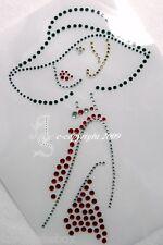 Hotfix Strass Bügelbild Bügelmotiv elegante Dame Kleid rot 130406 Karostonebox