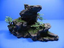 "Mountain Aquarium Ornament tree -Rock Cave stone Hide decoration fish tank 11"""