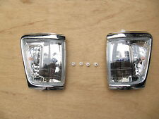 TOYOTA HILUX PICKUP 4WD CORNER LAMP INDICATOR CHROME 1988-97 IMPERFECTION
