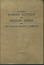The komaki ballet company program with guest artiists margot fonteyn 1959 hc