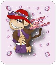 LONGSLEEVE PURPLE T-SHIRT 2X RED HATTERS MONKEY AROUND FOR LADIES OF SOCIETY
