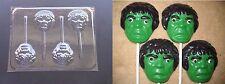 Incredible Hulk Face Head Lollipop Chocolate Candy Soap Crayon  Mold