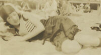 ANTIQUE AMERICAN BEAUTY FLAPPER WINK WINK CUTE BLOOMERS GIRL BEACH OLD FUN PHOTO