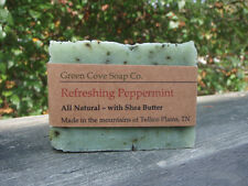 Refreshing Peppermint all Natural Vegan Lye Soap Green Cove Soap Company