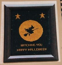 Witch ing you a Happy Halloween Cross Stitch Pattern 1993 Stitches Heartland