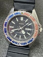 Vintage Citizen Pepsi Diver Watch 40mm Mens Water Proof