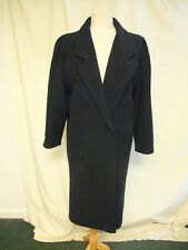 Manteau DAMES Debenhams, UK 10, marine pure laine, coupe slim , plis