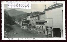 AXAT ( Aude ) bord de  l'Aude  . photo ancienne . Juin 1946