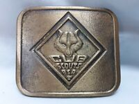 Wolf Cub Scout Large Adult Brass With Antique Finish Belt Buckle Ex Condition