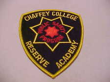 CALIFORNIA CHAFFEY COLLEGE RESERVE POLICE ACADEMY  POLICE PATCH SHOULDER SIZE
