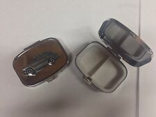 Triumph Herald 13/60 Est. ref254 pewter effect car on silver metal pill box