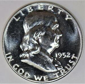 1952 Proof Franklin Half Dollar; Brilliant Choice Proof