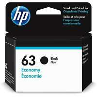 HP 63 Economy Black Original Ink Cartridge | Black | 1VV45AN |