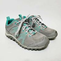 Merrell Womens 7 Rapidbow Hiking Shoes Gray Blue J342348C Low Lace Up Mesh