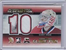Carey Price 12/13 ITG Between The Pipes Expo Redemption Glove / Pad /10