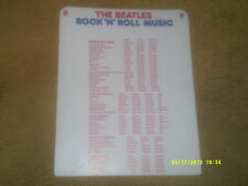 "Beatles PROMO '76 ROCK 'N' ROLL MUSIC LP Record Divider Card app. 12"" x 15"" VG+"