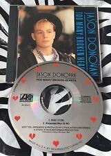 Jason Donovan - Too Many Broken Hearts Rare 1989 USA PROMO CD Single S/A/W Pwl
