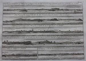 Original antique print WEST AFRICA, GUINEA COAST, TABO, BERBY, Barbot, Kip,1746