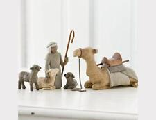 Demdaco Willow Tree Christmas Classic Shepherd and Stable Animals Figurine Set