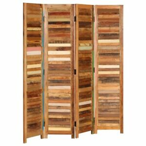 vidaXL Room Divider Solid Reclaimed Wood 170cm Home Privacy Screem Partition
