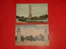 JE754 Vintage LOT 2 Postcards Tower Grove Park Campton Heights Tower St.Louis MO