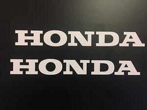 (X2) HONDA LOGO Stickers Decals Motorcycle Tank Frame 200x25mm GLOSS WHITE