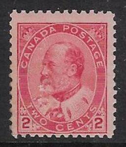 Canada 2¢ Carmine, Type II 1903 Edward VII Sc #90, F/VF, MNH, Fault - dw18p
