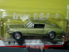 AUTO WORLD 1967 67 FORD MUSTANG GTA FASTBACK -Lime Gold Poly, MIP