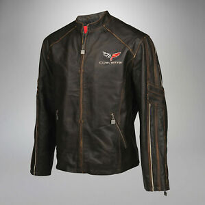 Mens C6 GS Racer Welterweight Long Leather Jacket Clearance 4X, 5X ONLY 620379