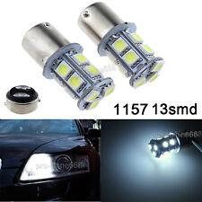 13SMD Xenon 6000K White 1157 2357A 1157A 7528 2057 LED Bulbs Turn Signal Light