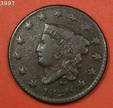 """1820 """"N-5 R-3"""" Coronet Head Large Cent """"F/VF"""" *Free S/H After 1st Item*"""