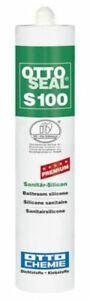 Otto Seal S100 ALTWEISS 300 ML Premium Silicone Sealant Internal Kitchen Bath