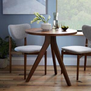 West Elm walnut tripod dining table