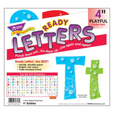 Bubbles 4-Inch Combo Classroom Display Ready Letters - 216 Characters