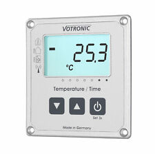 Votronic LCD-Thermometer / Uhr S Anzeige mit Extern-Sensor Solar - Votronic 1253