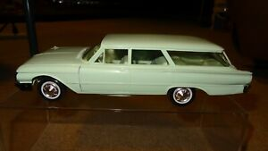 1961 61 Ford Country Squire wagon promo, blue/green. promotional model car