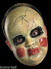 Creepy Horror Prop BABY DOLL FACE MASK Spooky Halloween Costume Ghost Decoration