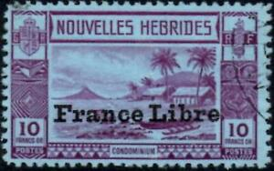 New Hebrides (French) 1941  10f. Violet/Blue  SG.F76 Used   Cat:£38