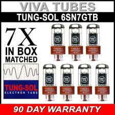 New Gain Matched Septet (7) Tung-Sol Reissue 6SN7GTB Vacuum Tubes 6SN7 6SN7GT