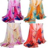 Lady Scarf Women's Summer Beach print Long Soft Wrap Shawl Silk Chiffon Scarves
