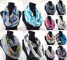US SELLER-lot of 10 vintage boho chevron infinity scarf Infinity Scarf for Sale