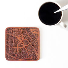 San Jose, CA map coaster One piece  wooden coaster Multiple city IDEAL GIFTS
