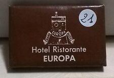 SAPONETTA HOTEL RISTORANTE EUROPA - CLUSONE (BG)  RETTANGOLARE - INCARTATA  N.21