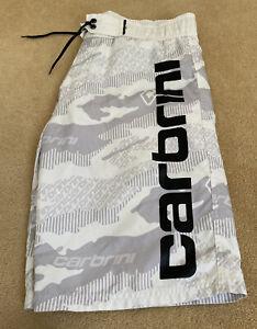 Boys Carbrini white/grey Board Shorts XL 14-15 years