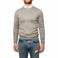 Maglione Uomo Cotone Grigio Manica Lunga Pullover Maglioncino Invernale M L XL X