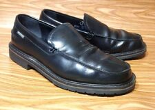 MEPHISTO AIR RELAX 100% CAOUTCHOUC BLACK LEATHER LOAFERS SLIP ON MENS 8