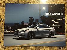 2016 Hyundai Sonata Hybrid 8-page Original Dealer Sales Brochure