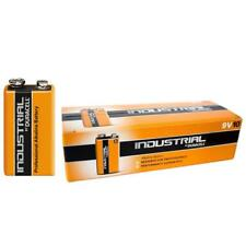 10 DURACELL PROCELL INDUSTRIAL 9v BLOCK PP3 MN1604 SMOKE ALARM ALKALINE BATTERY